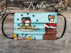 Reusable Fabric Face Mask with Pocket for Filter - Frida Design