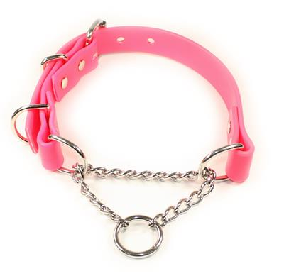 Pink SoftGrip Adjustable Martingale Chain Collar