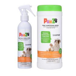 SaniPaw Sanitizing Paw Spray & Wipes by PawZ