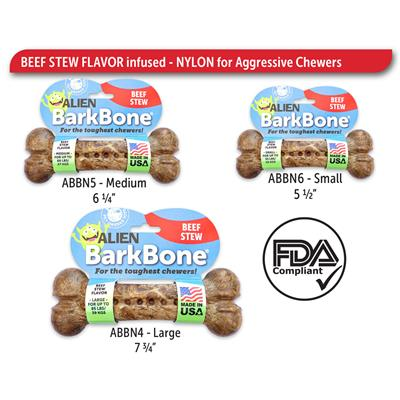 BarkBone Alien Beef Stew Nylon Chews