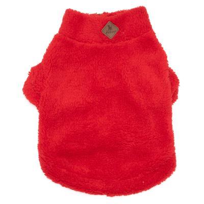 Red Solid Fleece 1/4 Zip Pullover