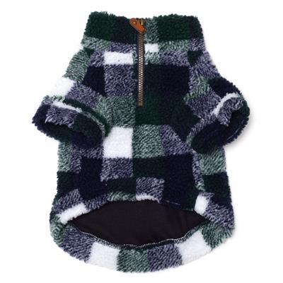 Hunter/Navy Sherpa 1/4 Zip Pullover