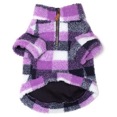 Purple/Navy  Sherpa 1/4 Zip Pullover