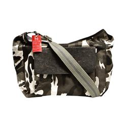 Sauvignon Barc Camo Cotton Canvas trimmed in Cork Sling