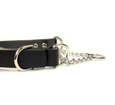 Black SoftGrip Adjustable Martingale Chain Collar