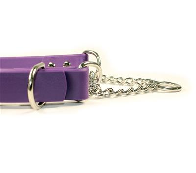 Purple SoftGrip Adjustable Martingale Chain Collar