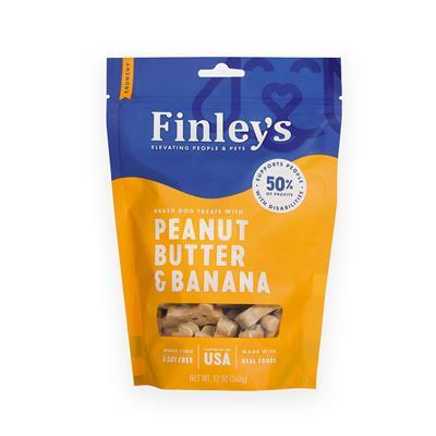 Peanut Butter & Banana Crunchy Biscuits, 12 oz. Bag