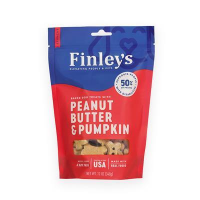 Peanut Butter & Pumpkin Crunchy Biscuits, 12 oz. Bag