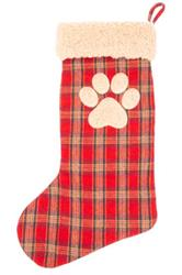 Plaid Paw Stocking