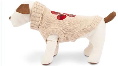 Plaid Paw Sweater