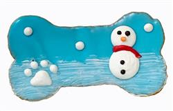 "4"" Winter Snowman Bone"