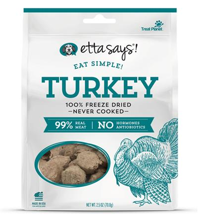 Etta Says! Eat Simple! 100% Freeze Dried Turkey, wt 2.5oz