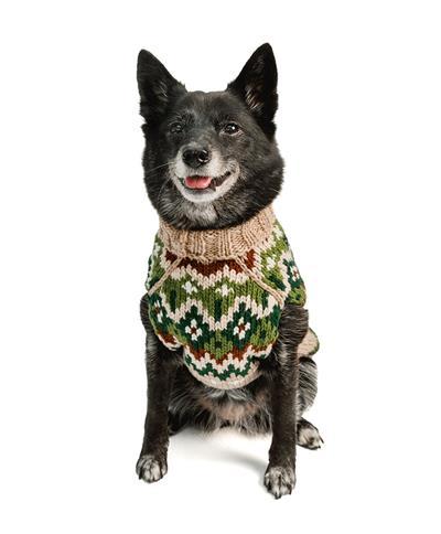 Ragg Wool Fairisle Wool Dog Sweater