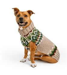 Ragg Wool Fairisle Wool Dog Sweater