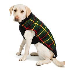 Navy Tartan Plaid Dog Sweater