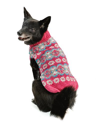 Alpaca Rose Fairisle Dog Sweater