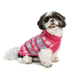 Alpaca Rose Fairisle Dog Sweater