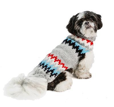 Grey Cheveron Dog Sweater