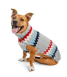 Grey Cheveron Dog Sweater