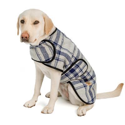 Grey and Blue Plaid Blanket Coat