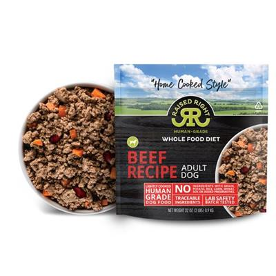 Raised Right Beef Adult Dog Recipe, 2 lb Bag