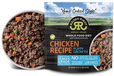 Raised Right Chicken Puppy Growth Recipe, 2 lb Bag