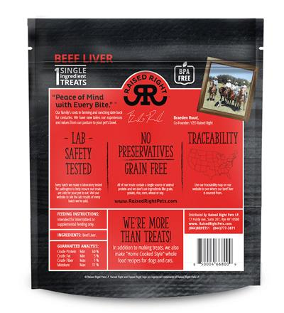 Raised Right Beef Meat Bites, 5oz. Bag