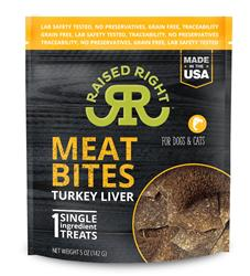 Raised Right Turkey Meat Bites, 5oz. Bag