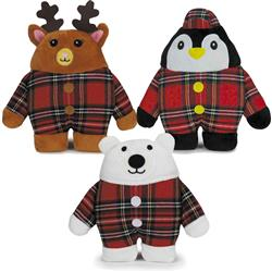 Zanies Holiday Tartan Friends