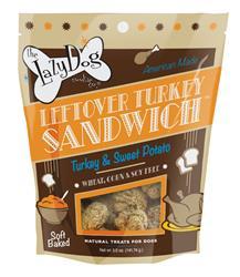 Leftover Turkey Sandwich 5 oz Turkey and Sweet Potato Treats by Lazy Dog