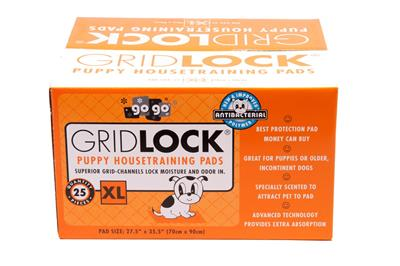 25 ct XL GridLock® Puppy Housetraining Pads by GoGo®