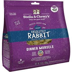 Stella & Chewys-Freeze-Dried Absolutely Rabbit Dinner for Cats - 18oz