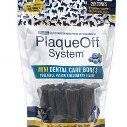 ProDen System Mini Dental Care Bones Vegetable Fusion & Blueberry Flavor Dog Treats, 12OZ