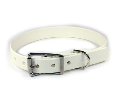 White Waterproof Dog Collars & Leads
