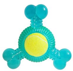 3 Bone Chew Toy Squeaker with Removable small Tennis Ball