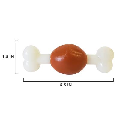"Bone, Beef Flavor TPR Nylon Chew Toy (5.5"")"