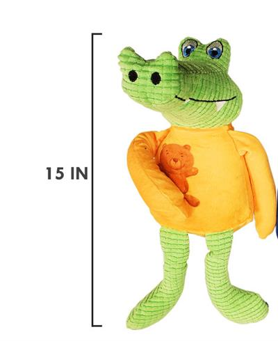 """Arby the Alligator - 15"""" Comfort Plush Toy with Squeaker"""