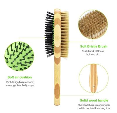 Dual Sided Bamboo Brush