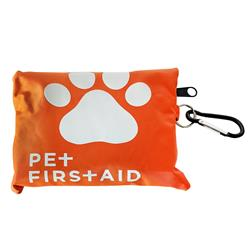 Travel Pet First Aid Kit (19 pc) w/ Carabiner
