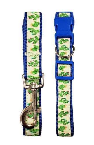 "Cool Cactus Designer Dog Leash - 6 ft x ¾"" wide"
