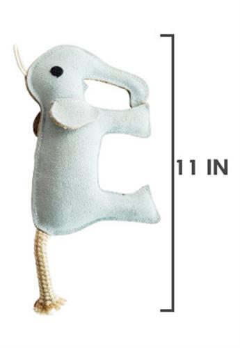 Native Dog Leather Elephant Toy