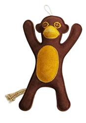 Native Dog Leather Monkey Toy