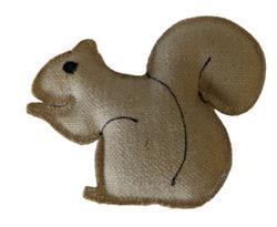 Native Dog Jute Squirrel Toy