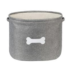 Capri Grey Pet Toy Basket