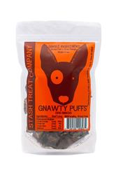 Gnawty Puffs Bite Size Beef Lung Treat 5.5oz.