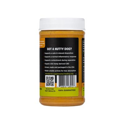 Nutty + Dog High Potency Broad Spectrum CBD Peanut Butter 12oz.