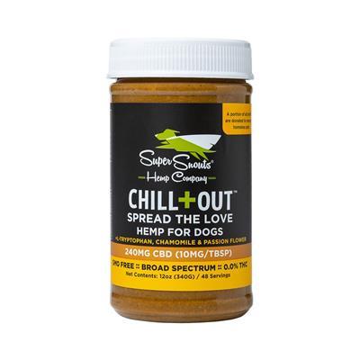 Chill + Out High Potency Broad Spectrum CBD Peanut Butter 12oz.