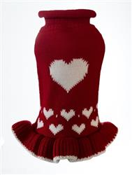 Red Heart Sweater Dress - NEW