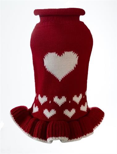 Red Heart Sweater Dress - NEW