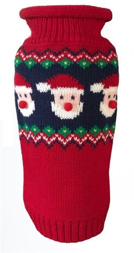 Santa Faces Fair Isle Sweater - NEW (BACK IN STOCK!)